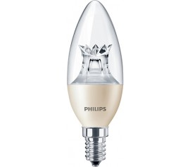 Bec LED Philips - LEDcandle 6W E14 DimTone B38 CL alb-cald