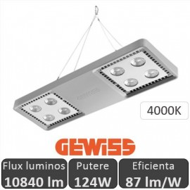 Gewiss - Proiector LED industrial Smart4LED 124W, alb-neutru