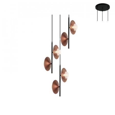 CORP ILUMINAT ACA LIGHTING HL4306P53BC STICLA, METAL, CUPRU, G9