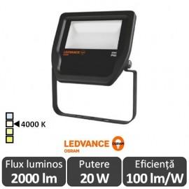 Osram Ledvance - Proiector LED de Exterior 20W IP65 4000K Alb-Neutru BK