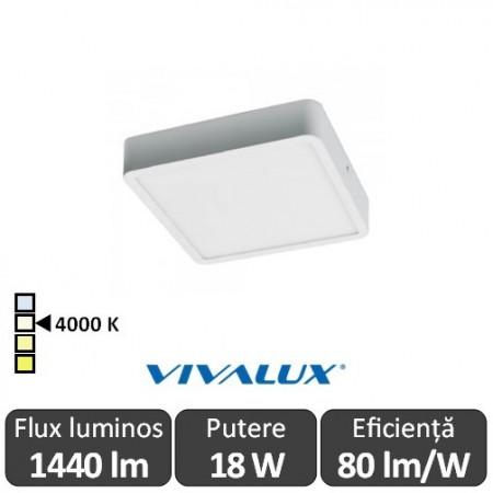 Plafonieră LED Vivalux HUGO LED 18W alb-neutru