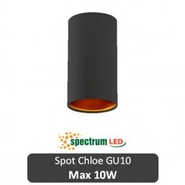 SPECTRUM  Spot Chloe Rotund Negru 1XGU10 N/O