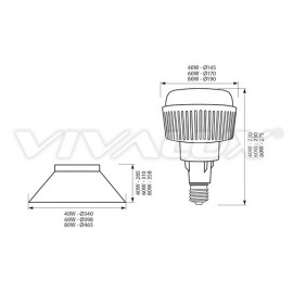 Poze Vivalux AJAX COVER LED 60W Alb