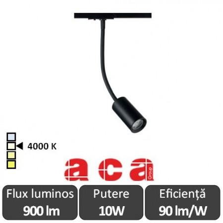 ACA Reflector interior sina monofazată Oliv 10W 4000K Alb/Negru