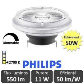 Bec LED Philips - MASTER LEDspot LV AR111 D 11-50W 40D 927 alb-cald