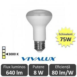 Bec LED Reflector Vivalux 8W 640lm E27 3000K