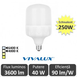 Poze Bec Vivalux LED TURBO E27 40W 4000/6400K
