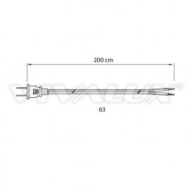 Cablu conectare  fără întrerupător transparent