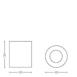 Philips - Spot aplicat HUE Pillar Alb 1x5.5W  LED
