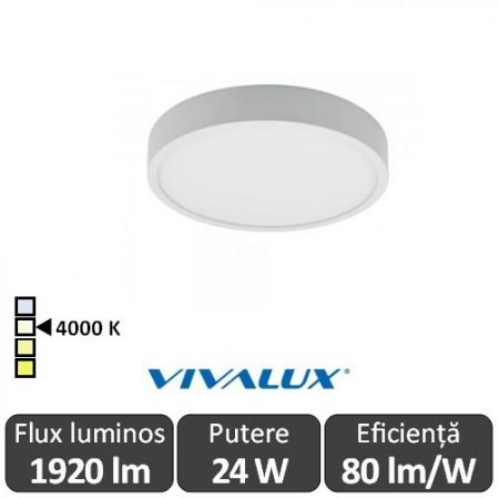 Plafonieră LED Vivalux DARS LED 24W alb-neutru