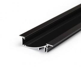 Poze Profil LED încastrat FLAT 8, negru, lungime 2m
