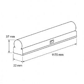Ultralux Tub LED Thermoplastic 14W T5 1200mm 4200K alb-neutru