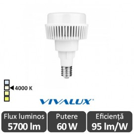 Vivalux AJAX LED 60W E27 4000K ( Alb-Neutru )