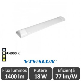 Vivalux FLAT LED 18W 0.6M 4000K Alb-Neutru