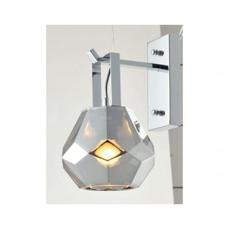 CORP ILUMINAT ACA LIGHTING V371481WG METAL CROM FUMURiU STiCLA E27