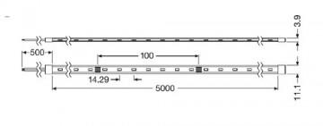 Bandă LED flexibilă - Osram VFP1000 830 7.6W/m 24V rolă 5m alb-cald