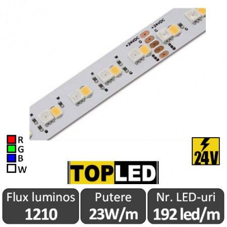 Banda led RGB+White Top Led 192led/m 23W/m 24V