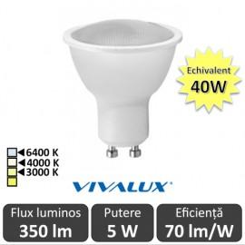 Bec Vivalux LED SPOT GU10 Vivalux 5W XL JDR