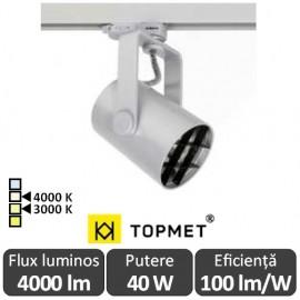 TOPMET  Proiector Led orientabil GAMO  4000lm gri