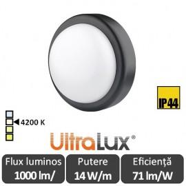 Ultralux Plafonieră Led 14W  IP44, negru, LBH1442BL