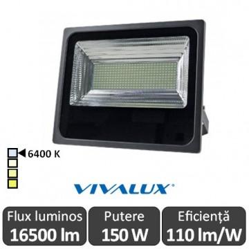 Vivalux - Proiector VIGOR LED de Exterior 150W IP66 6400K Alb-Rece Culoare Negru