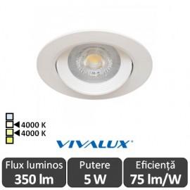 Vivalux RAYA LED 5W alb-cald/alb-neutru