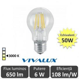 Bec LED Clasic Vivalux 6W 720lm E27 AF60