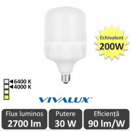 Bec Vivalux LED TURBO E27 30W 4000/6400K
