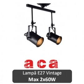 Lampă suspendată Aca Lighting 2xE27 Negru sau Alb-Auriu