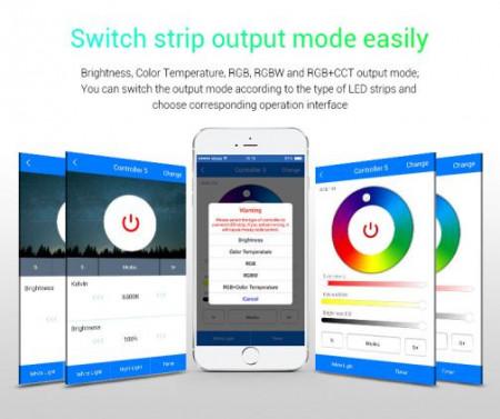 MiBoxer Controler Smart 5 în 1 WIFI/Telefon, 15A, 12-24V
