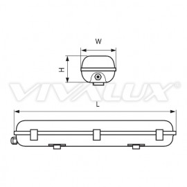 Vivalux CORP PENTRU TUBURI LED Rezistent la apa IP 65 1XT8 1.20 M