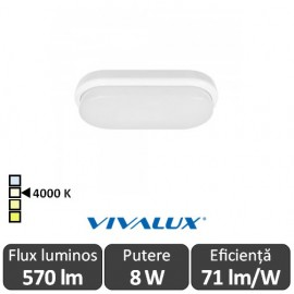 Poze Vivalux ELLIS/O Led 8W IP54 4000K Alb-Neutru
