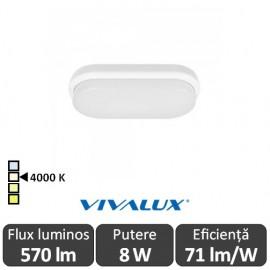 Vivalux ELLIS/O Led 8W IP54 4000K Alb-Neutru
