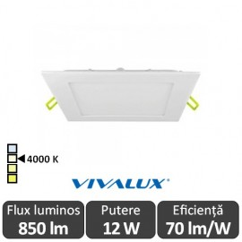 Vivalux Panou GRID LED Panel 12W CL/W 4000K Alb