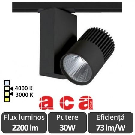 ACA Reflector interior șina Bienal 30W 3000/4000K Alb/Negru/Gri