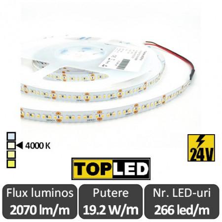 Poze Bandă LED flexibilă - SMD2216 19.2W/m 24V 266led/m rolă 5m alb-neutru