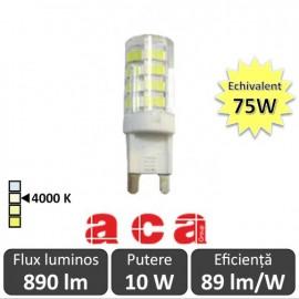 Bec Aca - LED 10W G9 4000K alb-neutru
