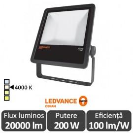 Osram Ledvance - Proiector LED de Exterior 200W IP65 4000K Alb-Neutru BK