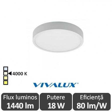 Poze Plafonieră LED Vivalux DARS LED 18W alb-neutru