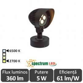 Spectrum Flori 5W IP44 2700-6500K  Alb-Cald/Alb-Rece