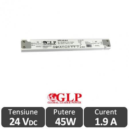 Sursa alimentare Slim GLP LED 45W 24V IP20