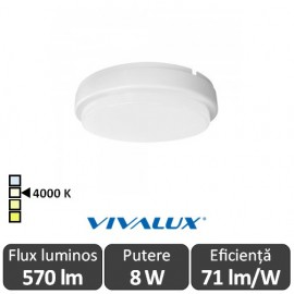 Vivalux ELLIS R Led 8W IP54 4000K Alb-Neutru