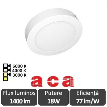 Aca Lighting Panou Led Rotund Arca 18W
