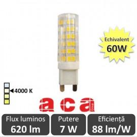 Bec Aca - LED 7W G9 7W alb-neutru