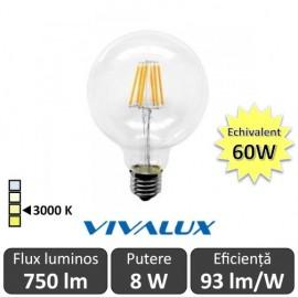 Bec LED Glob Vivalux 8W 750lm E27 GGF95