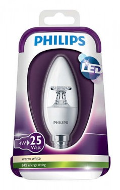 Poze Bec LED Philips - LEDcandle 4W E14 230V B35 CL alb-cald