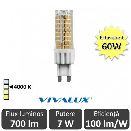 Bec Vivalux - OTO LED 7W G9 alb-neutru