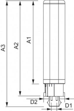 Philips bec LED PL-C 6.5W 2 pini 3000/4000K alb-cald/alb-neutru