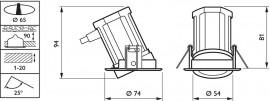 Philips - Spot LED RS011B 6W/830 orientabil, alb-cald