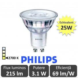 Spot LED Philips - Classic MV 3.1-25W GU10 Nedimabil 2700